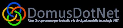 Logo DomusDotNet su fondo chiaro (800 x 183)