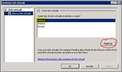 Creazione Rete virtuale esterna (step 2)
