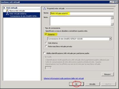 Creazione Rete virtuale esterna (step 3)
