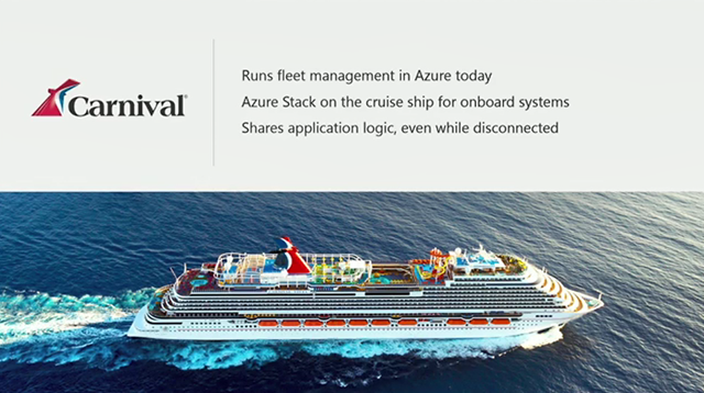 Build 2017 - Carnival cruises