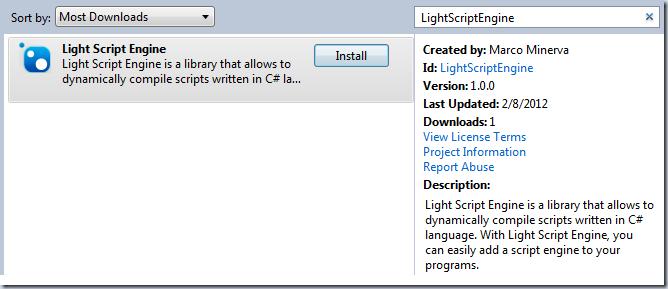 LightScriptEngine-NuGet