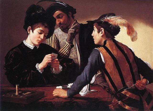 800px-Michelangelo_Merisi_da_Caravaggio_-_The_Cardsharps_-_WGA04083